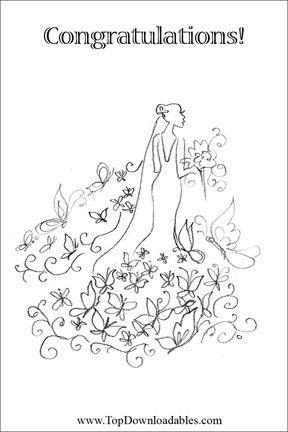 Printable Wedding Coloring Book Free: This #freeprintable wedding ...