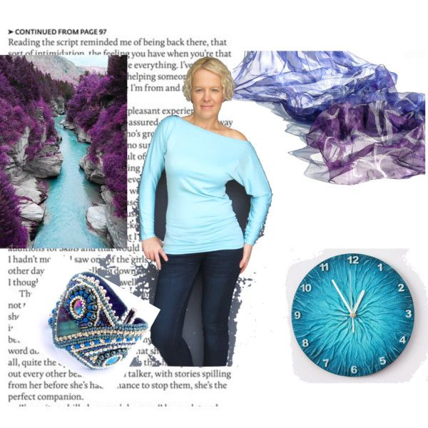 """Purple blue style"" by annawirejewelry on Polyvore"