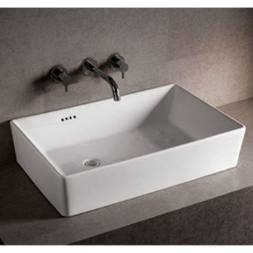 Nice Whitehaus Collection Isabella Rectangular Bathroom Sink With Overflow And  Offset Center Drain
