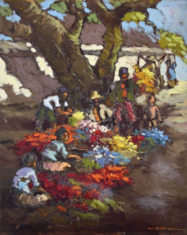 Lucien Frits Ohl - Penjual Bunga (bloemenverkoper)