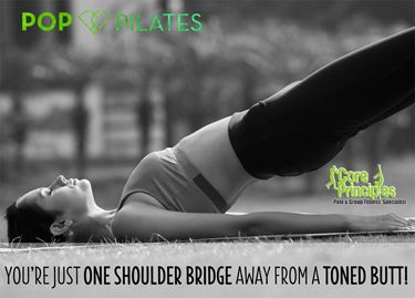 Sweat to your fave songs in Pop Pilates with Deb tonight at 7. #poppilates #pilates #cardio #sweat #core