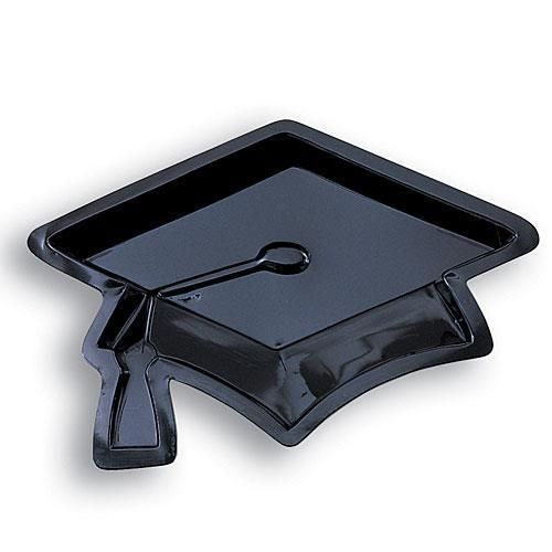 Mortarboard Plastic Serving Trays Set of 4 is shaped like a graduation cap   | eBay