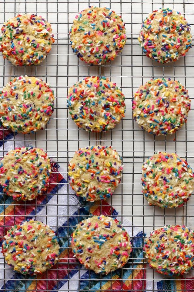 Vanilla bean confetti cookie recipe.