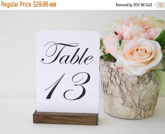 Rustic Chic Wedding Table Number Holders 5inch Set By Gallery360