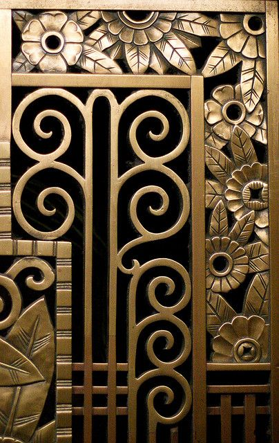 Art deco screen work / via Anne Peterson's flickr