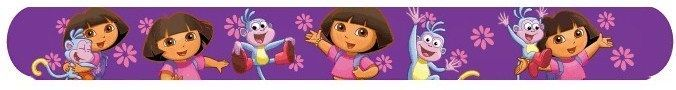 Dora the Explorer & Boots Nickelodeon Slap Bracelet Purple Band Party Favors #NIckelodeon