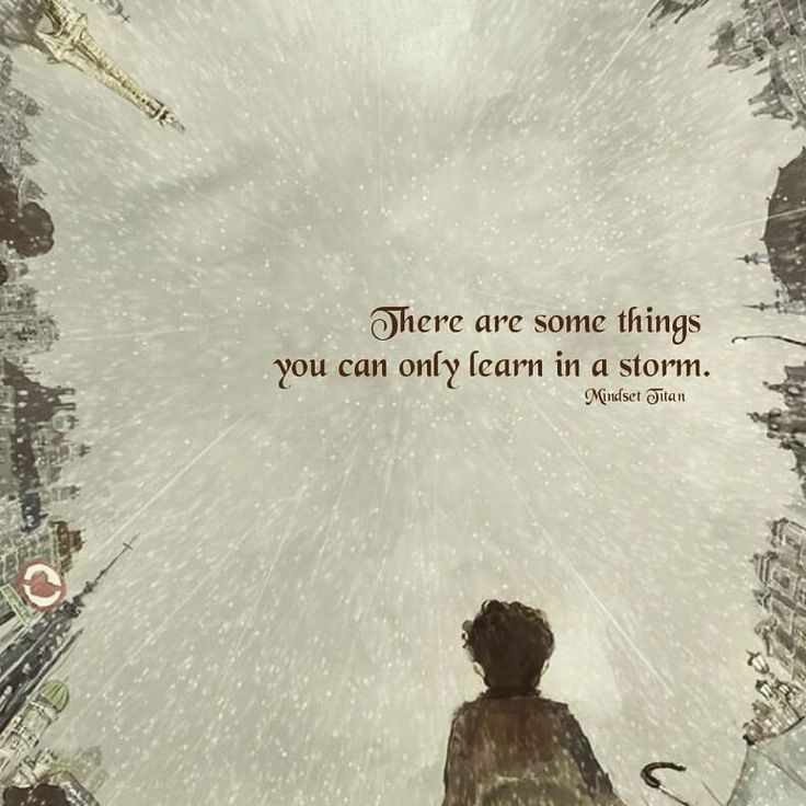 Learning from the storm