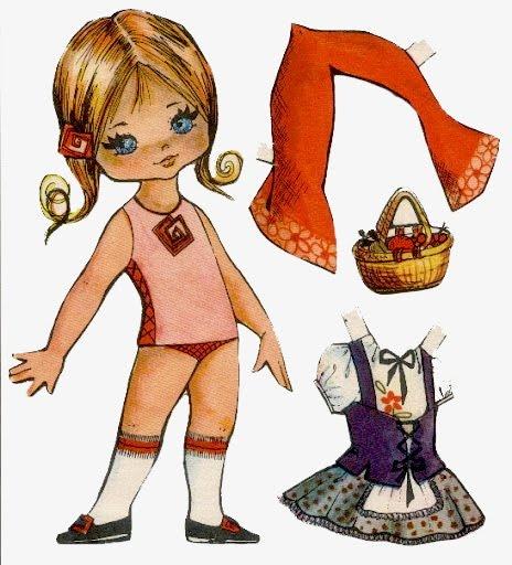 dibujos de muñecas recortables, una buena diversión cuando no existía la tecnología.