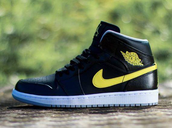 pretty nice 6db6e 6e2d0 ... Air Jordan 1 Mid - Black - Vibrant Yellow - SneakerNews.com ...