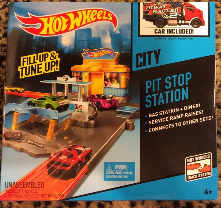 2014 hot wheels city pit stop station car included fill up tune up. Black Bedroom Furniture Sets. Home Design Ideas