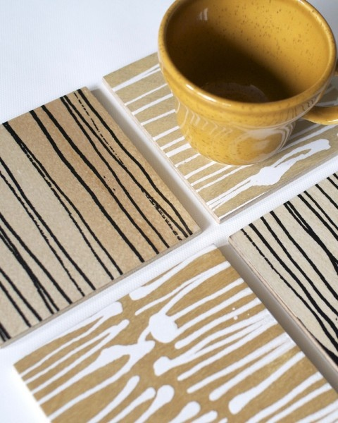 Gifts Under $50: Hostess  Hand-printed coasters by Halifax's Keephouse make a charming place to set your drink.    Keephouse coasters, $15 for 4, keephouse.ca or at the One of a Kind Show Toronto, November 22 to December 2, oneofakindshow.com