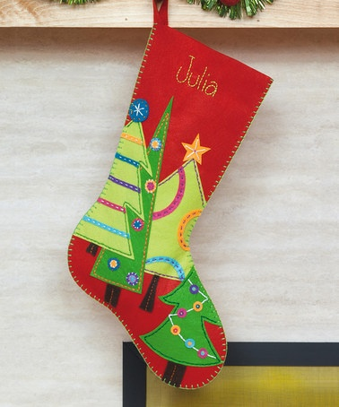 Festive Tree Stocking by Dimensions Needlecrafts