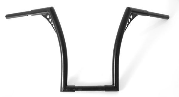 "El Diablo Black 18"" Rise Universal Ape Hangers 1-1/4"" Diameter Handlebars for Harley Motorcycles"