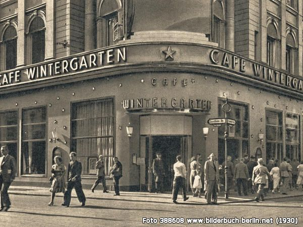 Cafe Winter Garden, Friedrichstrasse., Berlin (1930)