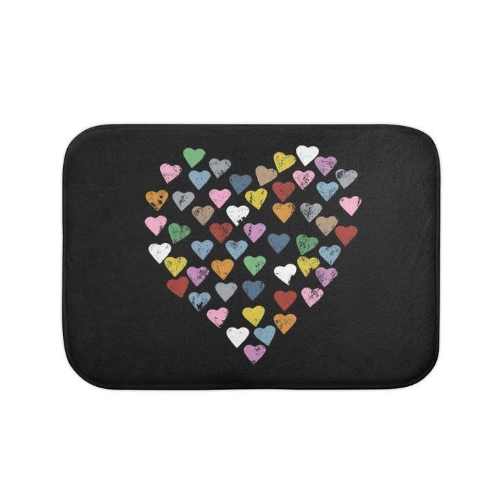 Heart Black Bath Mat by Project M $20
