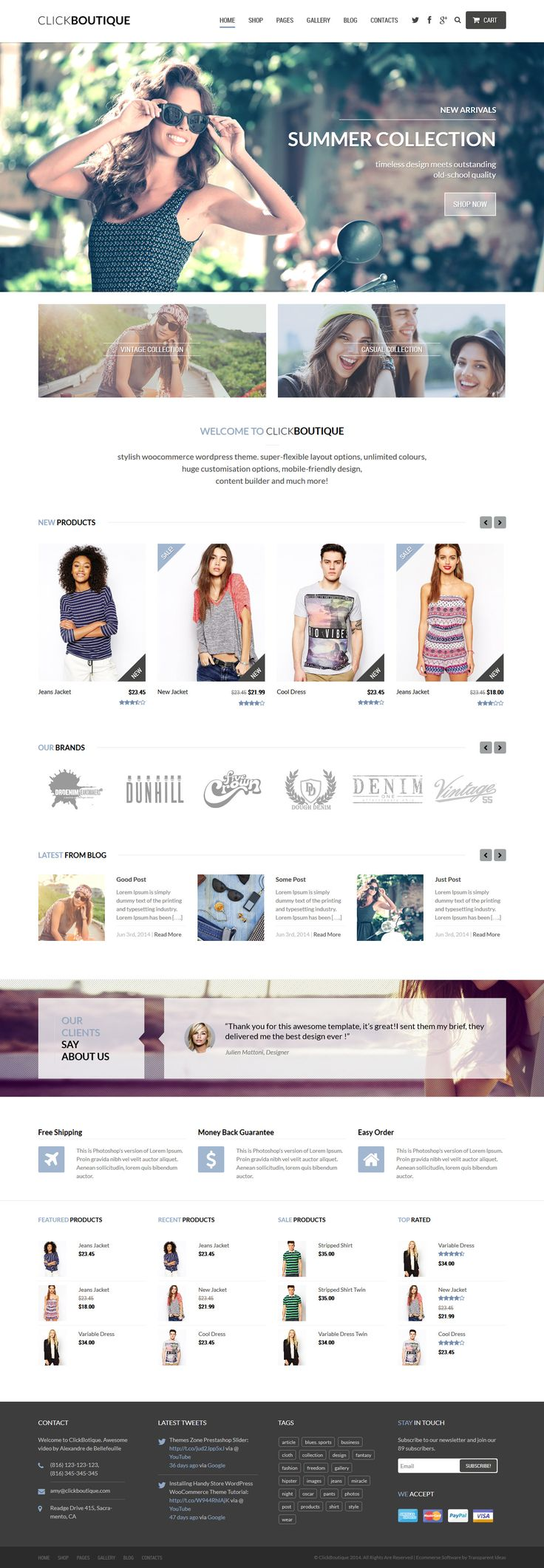 Click Boutique - Fashion Shop WordPress WooCommerce Theme #ecommerce #wordpress Live Preview & Download: http://themeforest.net/item/click-boutique-fashion-shop-wordpress-woocommerce-theme/8001338?ref=ksioks