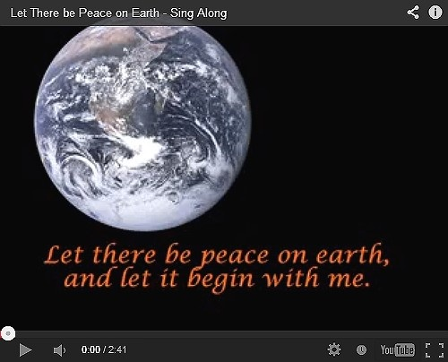 """Click to watch a video of the beautiful """"Peace on Earth"""" song. - http://www.thedoorway.org/blog/let-there-be-peace-on-earth-sing-a-long/"""