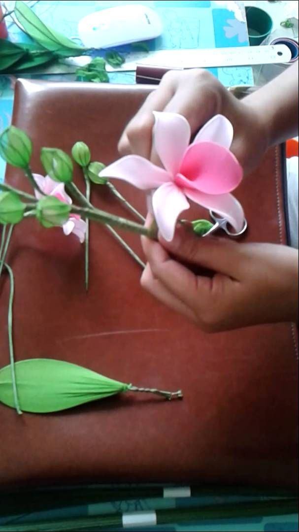 How to make stocking-flower (Dendrobium) by www.ployandpoom.com 2/2