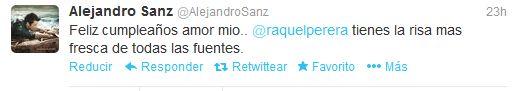 La romántica felicitación de cumpleaños de Alejandro Sanz - La Razón digital