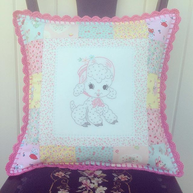 This cutie pillow cover is finished and will be headed to its new sweet home soon!!