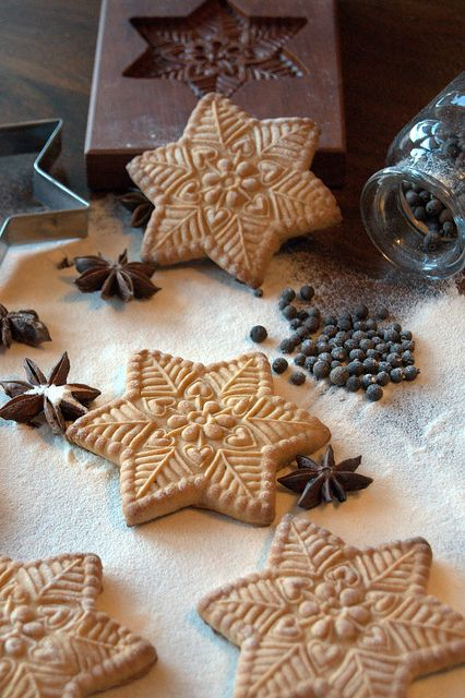 Finnish Gingerbread (Rovastin piparkakut) by Cookie mold cookies, via Flickr