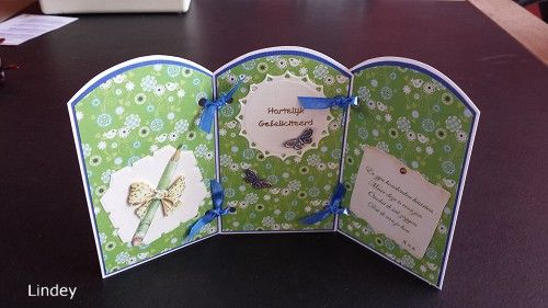 Happy Birthday card. 3d picture by Mattie for Marianne Desin.