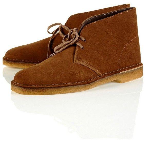 Chaussures en daim marron Clarks