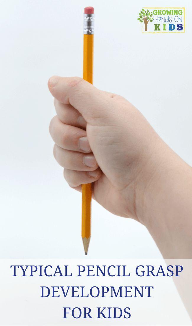 Typical Pencil Grasp Development in children.