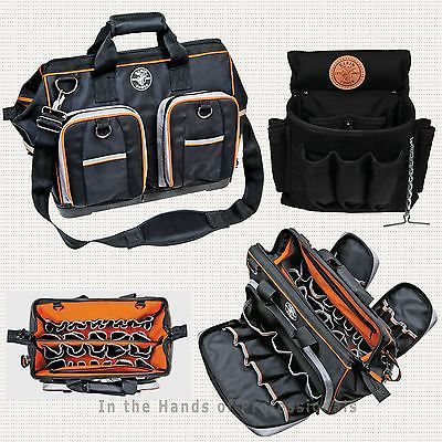 Klein Tools 55417-18 Tool Bag + 5719 Belt Pouch Electrician's > NEW