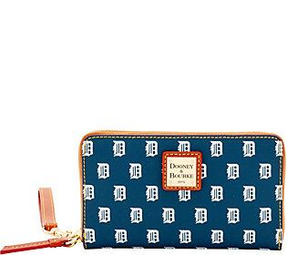 Dooney & Bourke MLB Tigers Zip Around Phone Wristlet