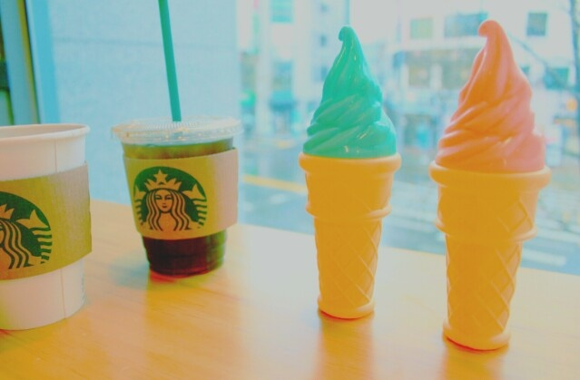 In Starbucks with icecream