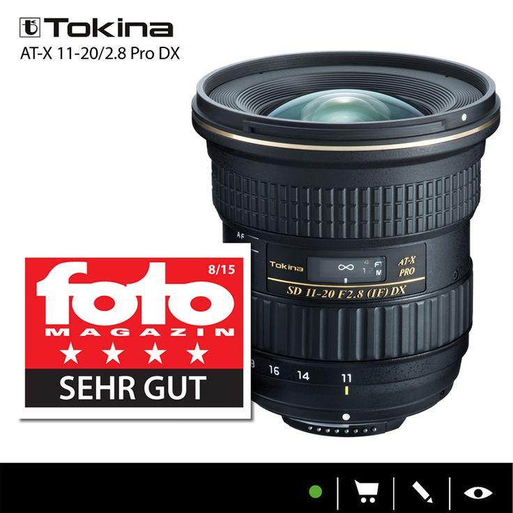 """Prädikat """"SEHR GUT für das Tokina AT-X 11-20/2.8 Pro DX im Fotomagazin Test  (Ausgabe 08-2015)!"""