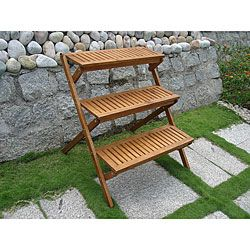 Tiered plant stand plant stands plants and outdoor plants - Tiered wooden plant stands outdoor ...