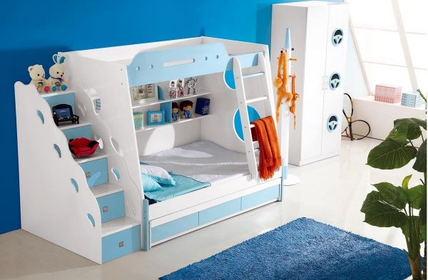 etagenbett ocean in blau f r 849 00 kinder und. Black Bedroom Furniture Sets. Home Design Ideas