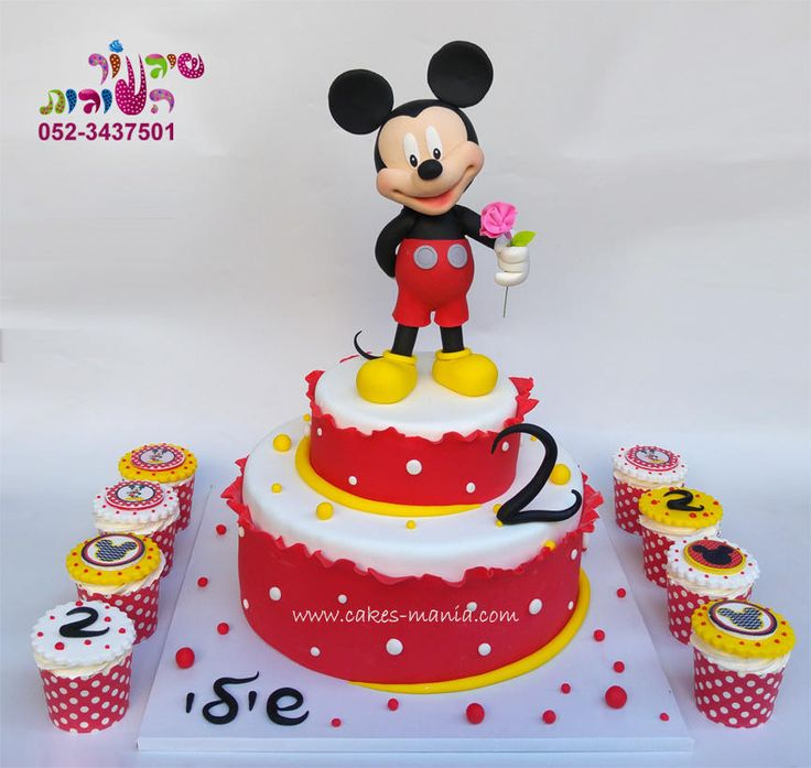 Cake Deco Mania : mickey mouse cake and cupcakes by sharon tzairi - cakes ...