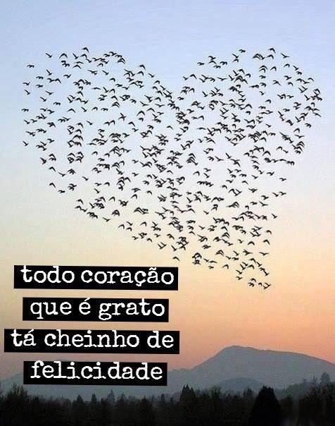"""""""Todo coração que é grato tá cheio de felicidade"""""""