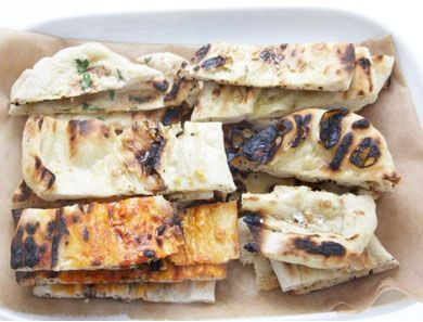 Make these chewy, flavored flatbreads with six different toppings--tailored to your tastes. TIP: Try adding tomato sauce and cheese to make grilled pizza.