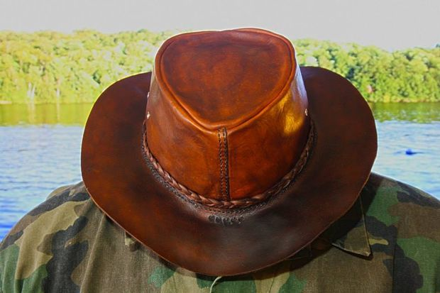 How To Make A Leather Bushcraft Hat....this would be a good project for the sewing unit and a older 4-H student