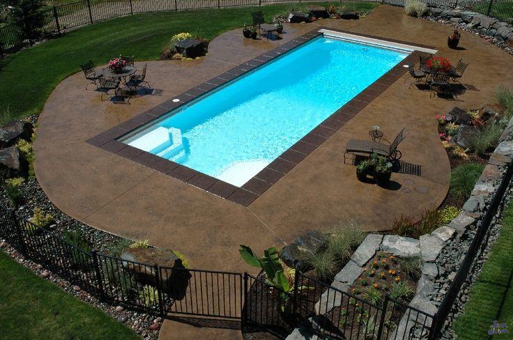 inground pool landscape and backyard inspiration