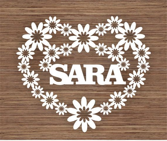 COMMERCIAL custom name/ word sunshine Heart PDF SVG Instant Download Digital Papercutting Template
