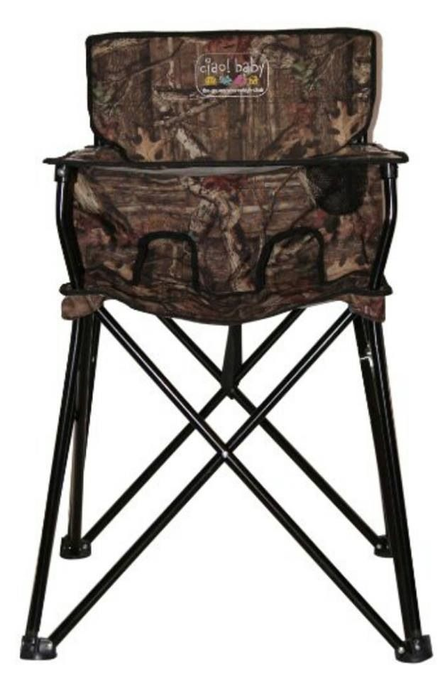 Camo baby portable highchair For when we go to Deer Camp!!!! PErfect!!!