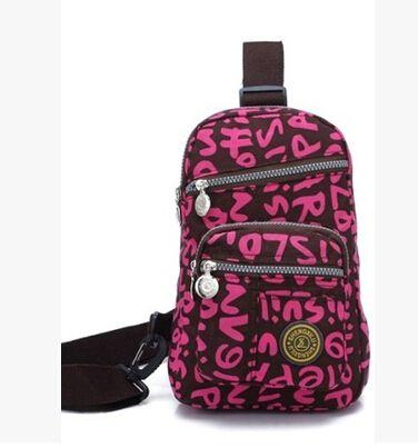 2014 hot sell Ripstop nylon printing travel sling bags fashion girls travel sling bags woman nylon travel sling bags $22.00