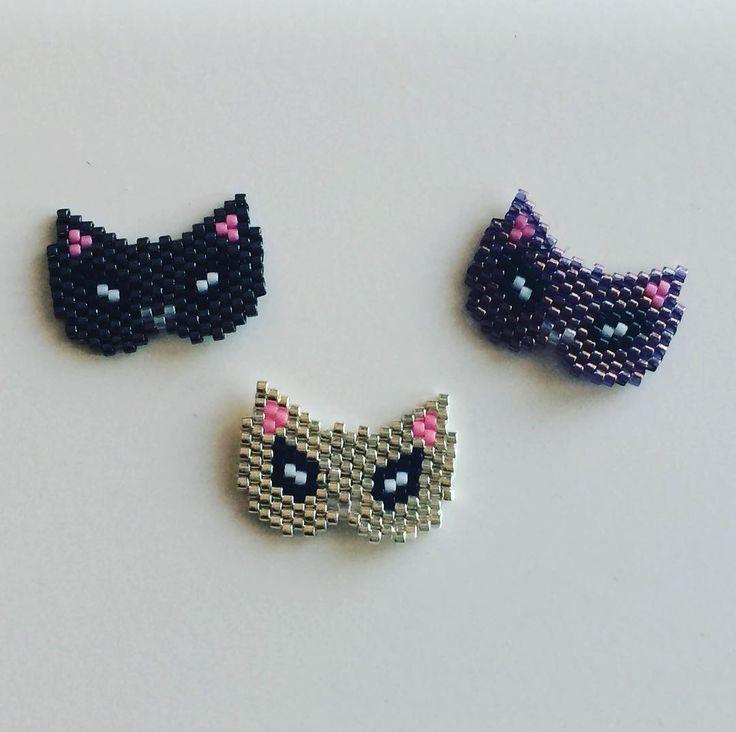 Je le trouvais tellement mignon le petit masque chat de @lili_azalee que je m'en suis fait trois #miyuki #motifliliazalee #jenfiledesperlesetjassume #perlesaddict #diy #nantes #ilikeit #vcreations #lescreationsdevirginie