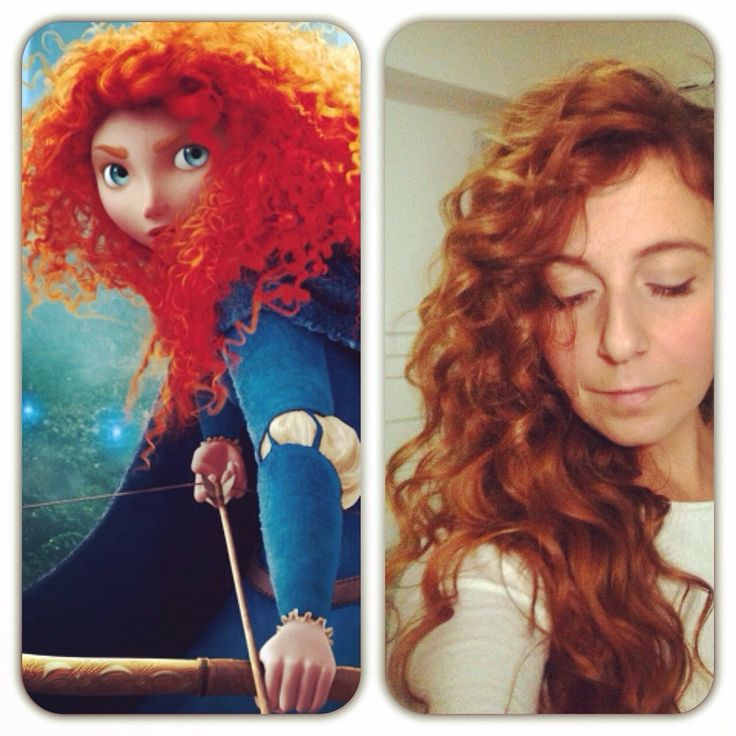 Princess Merida Hair Tutorial - capelli ricci come Merida (The Brave-Rib...