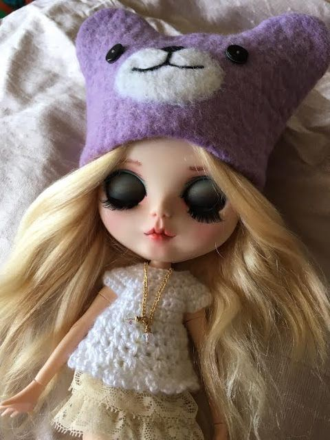 Fuzzi Flower: BLYTHE Bear and Fox Animal Hats