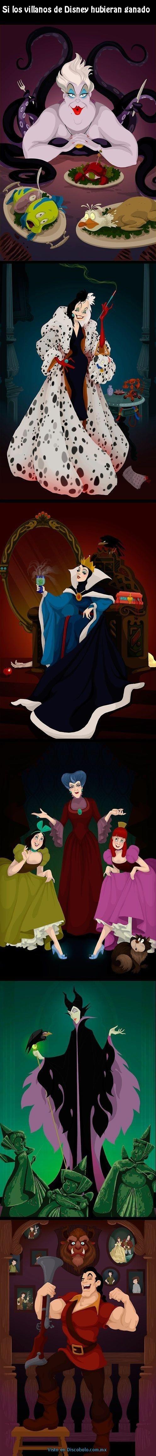 En una realidad alterna en la que los villanos de las famosas peliculas de Disney hubieran ganado su parte de la historia... cuales serian las consecuencias? Posts relacionados: Princesos de Disney Las fotografias que Disney no quiere que vean: los famosos... Los videojuegos en realidad Un dibujo representando lo que pasaria si un videojuego en... Las consecuencias de un baile ¿Las mujeres verán asi su vida al ser invitadas a... El lado oscuro de los personajes de Disney En el mundo del...