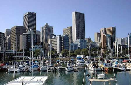 Yacht harbour in Durban, South Africa