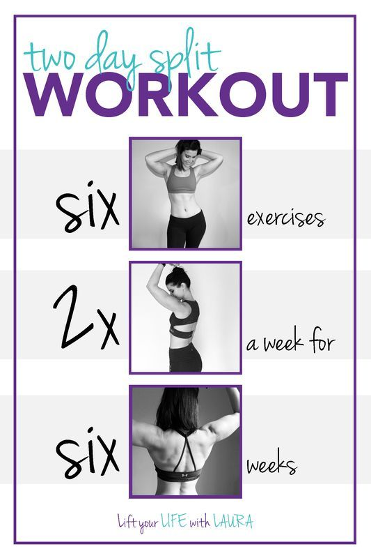 2 Day Split Workout: Lift your LIFE with LAURA  weights for