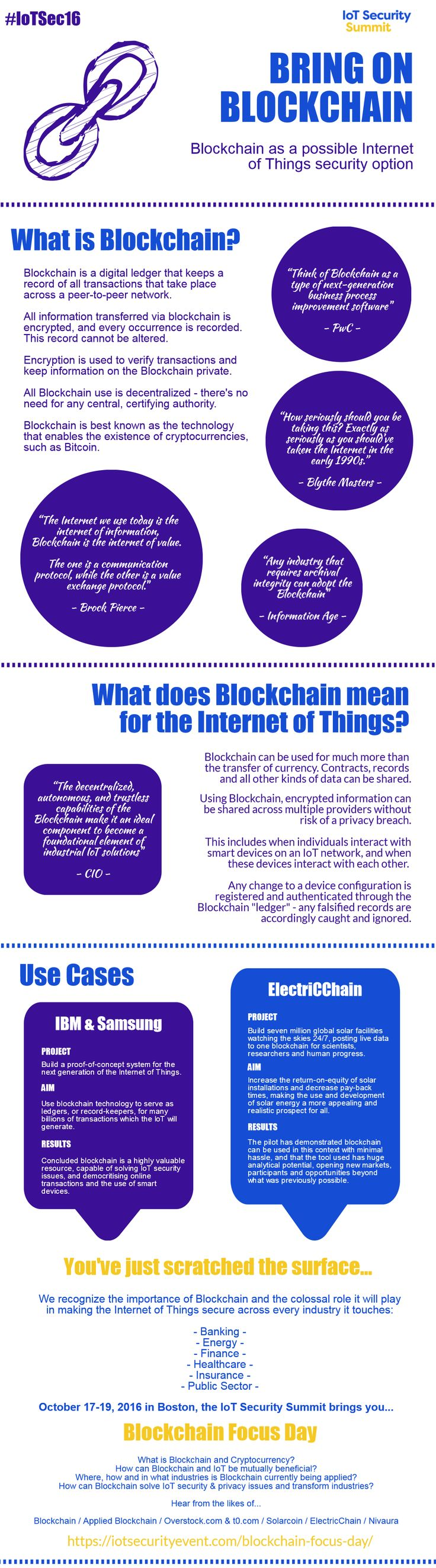 Blockchain, cybersecurity, infographic, internet of things, IoT
