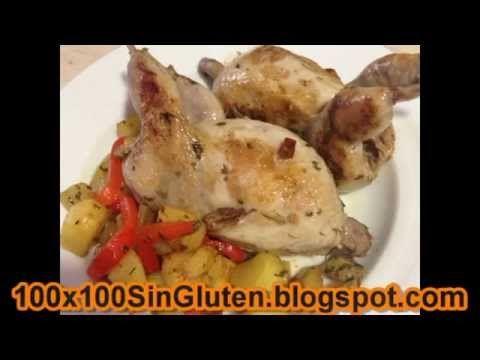 Codornices con patatas y pimientos del piquillo sin gluten paso a paso